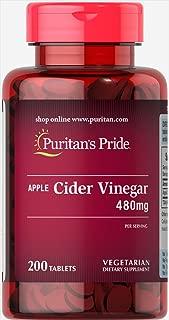 Puritan's Pride Apple Cider Vinegar 480 mg-200 Tablets
