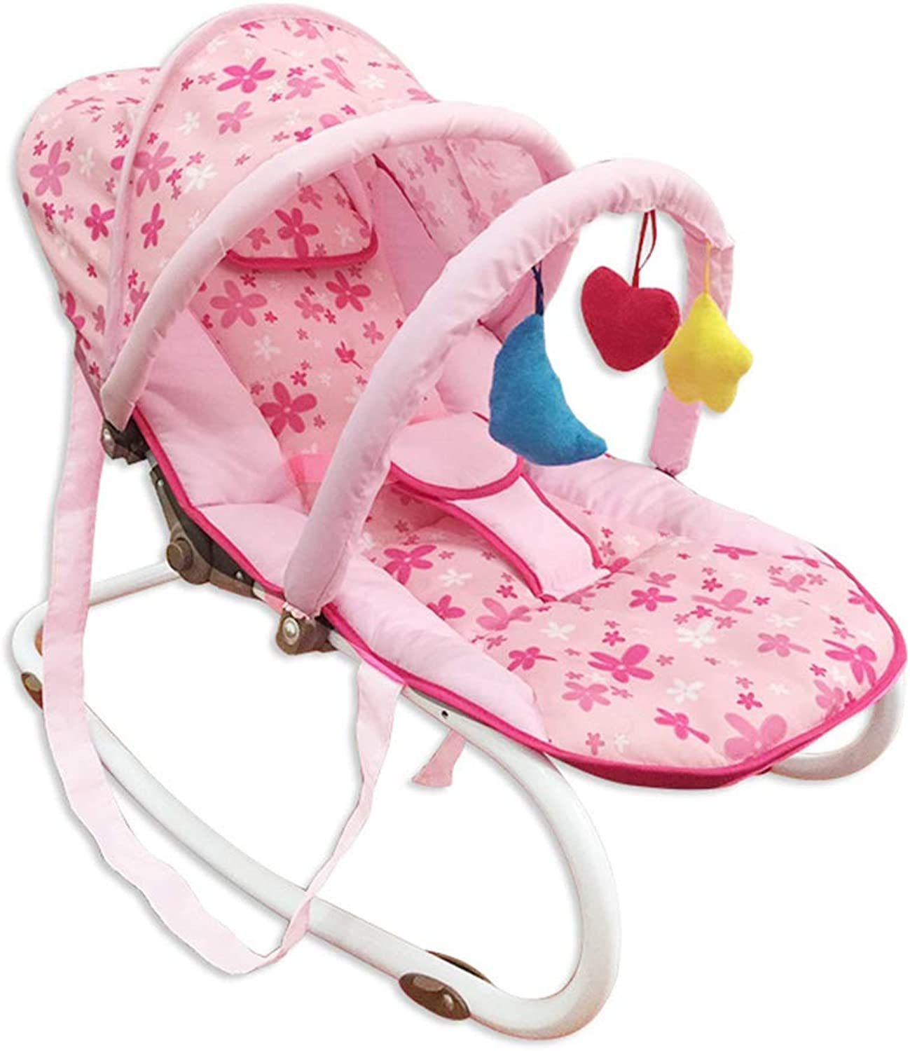 Parenting Cradle Chair Loungers and Feeding Seat, Toddler Coax Sleeping Artifact Feeding Chair Entertainment Chair Music with 180 Degree Adjustment, Small Cradle Newborn Rocking Chair