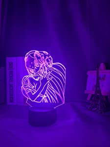 Elfen Lied Lucy NYU Anime 3D Illusion Night Lamp Home Room Decor Acrylic LED Light Xmas Gift Lamps(16 Colors with Remote)