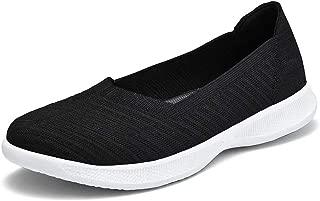 konhill Women's Walking Shoes - Slip on Nursing Work Flat