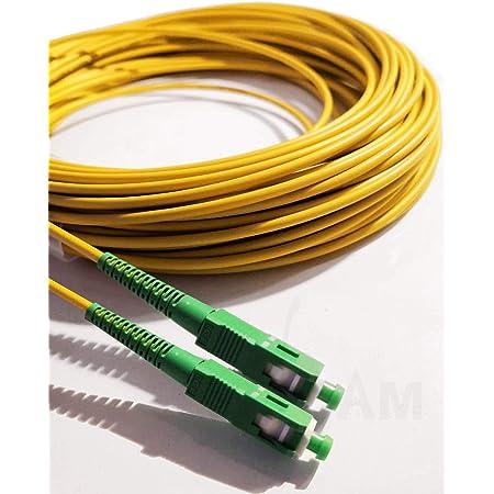 Elfcam - Cavo Fibra Ottica SC/APC per SC/APC Simplex Monomodale 9/125 , Compatibile con TIM Fibra, Vodafone Fibra, Wind Fibra e Tre Fibra, 5M