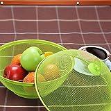 Eruditter Obstkorb Mit Insektenschutz, Früchtekorb Mit Deckel, Obstschalen Für Obst Und Gemüse Für Jede Küche - 2