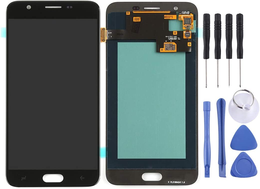 Black J720 MAYOFO Good Quality.LCD Screen and Digitizer Full Assembly for Galaxy J7 Duo Color : Grey