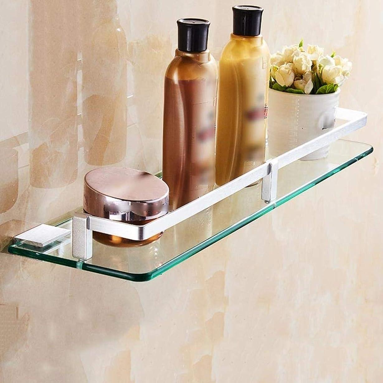 親密な確認する直径CXM バスルーム棚、スペースアルミシャワールームガラス棚浴室6サイズオプションの浴室の棚のガラスの場合(色:50cmx19.6inch)、省スペース30cmx11.8inch(カラー:30cmx11.8inch)