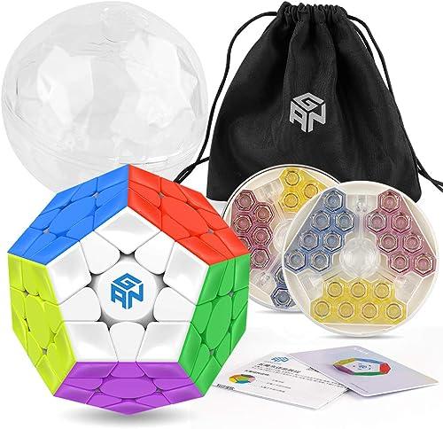 exclusivo Coogam GAN Megaminx Megaminx Megaminx Cubo Versión magnética 3 × 3 Gans Megaminx M Pegatina de Velocidad sin Cubo de Juguete Dodecaedro pentagonal Puzzle  calidad fantástica