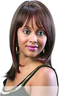 H PARIS (1B Off Black) - Motown Tress 100% Human Hair Long Layered Style Wig