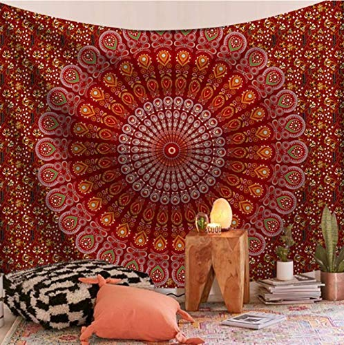 CARPET-STORE Tapiz de Pared de Mandala, Alfombra de Yoga para la Playa, decoración del Dormitorio del hogar, Manta de Mandala montada en la Pared, Manta de Picnic