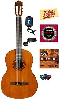 Yamaha C40 Nylon String Acoustic Guitar Bundle with Instructional DVD, Strings, Pick Card, and Polishing Cloth