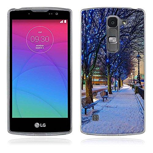 FUBAODA für LG Spirit 4G LTE Hülle, Schöne und romantische Landschaft Serie TPU Case Schutzhülle Silikon Case für LG Spirit 4G LTE (H440N H420)