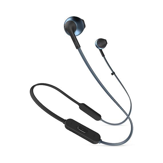 (Renewed) JBL Tune 205BT Wireless Earbud Headphones with Mic (Blue)