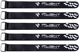 iFlight 5pcs RC LiPo Battery Tie Down Rubberized Straps Non-Slip 20x200mm for FPV Racing Drone Quadcopter (Black)