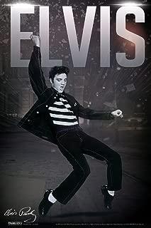 Pyramid America Elvis Presley Lets Rock! Music Cool Wall Decor Art Print Poster 12x18