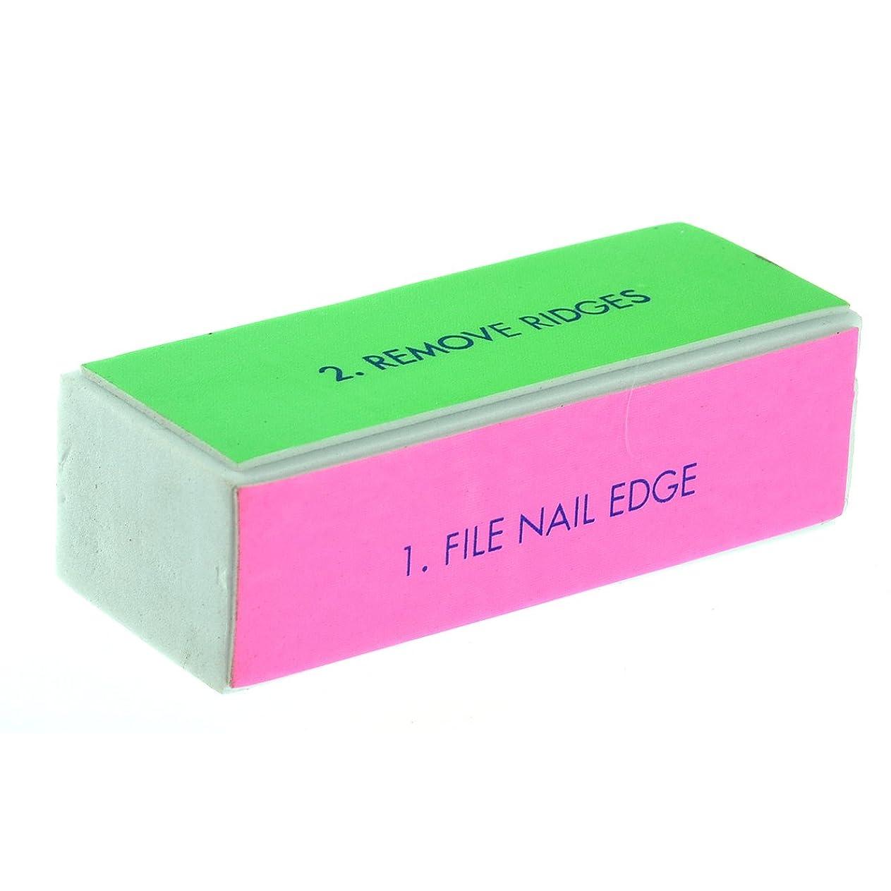 指草掃除ROSENICE 4面ブロックバッファー ネイルシャイン スポンジファイル 10個入り