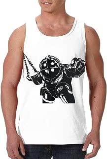 YourYarm Bioshock Mens Summer Sleeveless Tank Tops Casual Graphic Vest Shirts