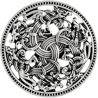 Norse Medieval Viking Shield Symbol Brooch Celtic Norse Vintage Jewelry
