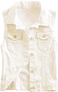 2019 New Short Type Sleeveless Denim Jacket Hole Jeans Vests
