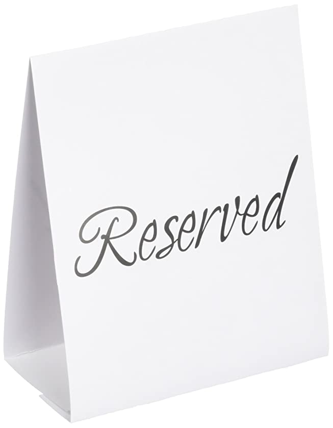amscan Reserved Table Card Signage | Wedding and Engagement Party, 144 Ct.