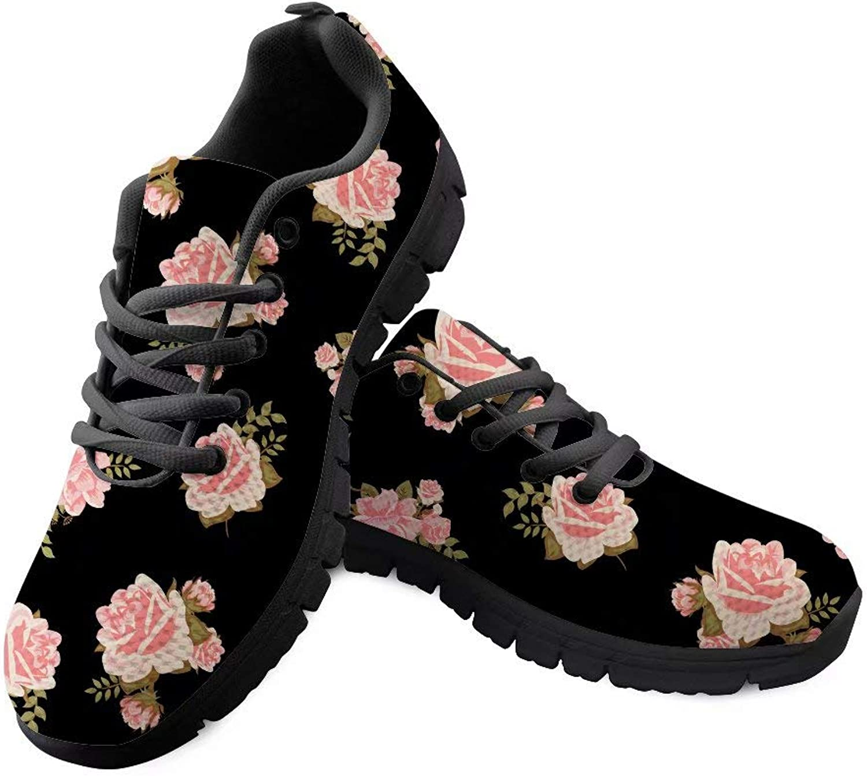 Sannovo pink Pattern Lightweight Running shoes Women