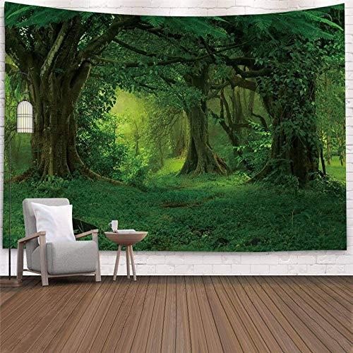 Hermoso bosque natural colgante de pared grande hippie colgante de pared tapiz bohemio mandala decoración de arte de pared A4 150x200cm