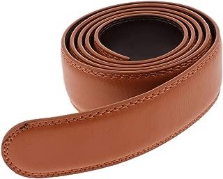 Baoblaze Men's Ratchet Leather Belt Without Buckle Classic Business Belt