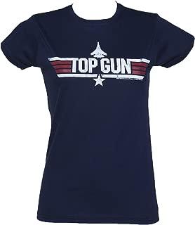 Womens Navy Top Gun Maverick Fitted T Shirt