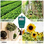 """Gouevn Soil Moisture Meter, Plant Moisture Meter Indoor & Outdoor, Hygrometer Moisture Sensor Soil Test Kit Plant Water… 9 🌼 SIMPLE and EFFECTIVE: Gouevn Soil moisture meter only for testing soil moisture, basic model works stably. Plug and read, responds quickly and provides easily readout. Large dial, ten scales. Includes watering guide for 200 plants printed on the back of the packaging. 🌼 INDOOR & OUTDOOR USE: A super helpful tool for your garden, Yard, lawn, Farm, potted plants etc. Especially is important for some delicate plants which are very sensitive to over or under watering. 🌼 LONG PROBE SENSOR: 7.7"""" probe length specifically designed for measure water at the root level, For use on any plant, even it is big potted plants."""