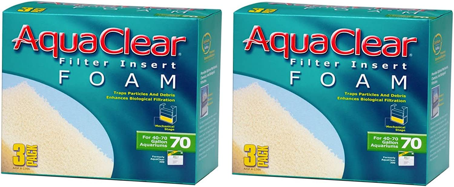 Aquaclear Foam Inserts, 3Pack (6Pack, 70Gallon)