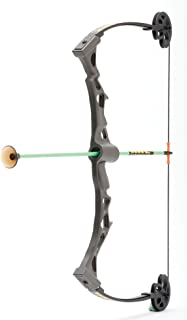 NXT Generation Rapid Riser Black Compound Bow Kit with Three Safe Foam Suction Cup Arrows - For Lefties and Righties