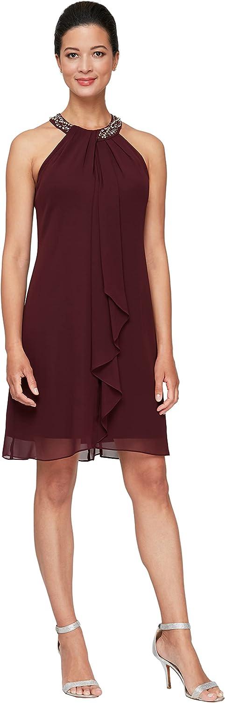 S.L. Outlet sale feature Fashions Women's Jewel Halter Sheath and Dress Petite 55% OFF Regu