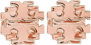 Tory Burch T Logo Small Stud Earrings Rose Gold