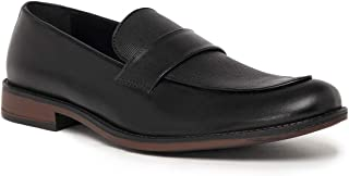 NOBLE CURVE Black Leather Loafers Shoes