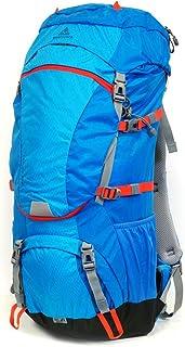 mapuera Camino Azul - Mochila de senderismo de 40 l con apertura frontal y acceso a 3 vías, incluye funda para la lluvia, ideal para senderismo, trekking o como mochila de peregrino