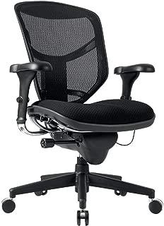 WorkPro Quantum 9000 Ergonomic Mesh/Fabric Managerial Mid-Back Chair, Black