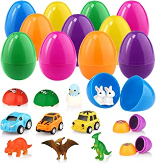 Betheaces Cute Toys Sets Classroom Prize Surprise With Popular Boys Girls Toys Include Cars Dinosaurs Stampers Chick Rabbits(12 Sets)