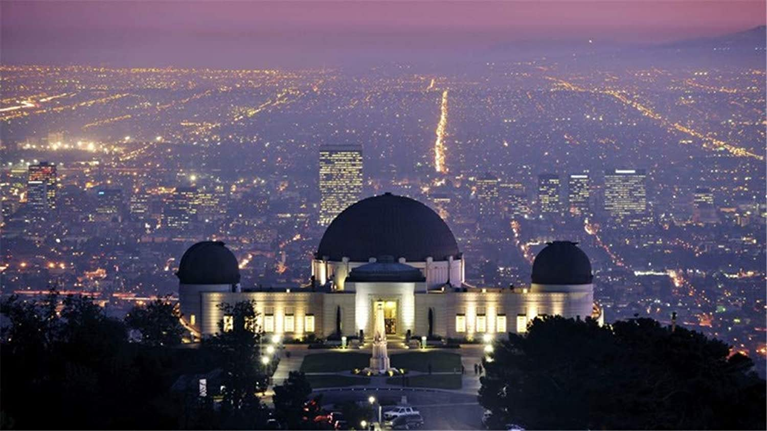 Jigsaw Puzzle 1000 Piece Griffith Observatory Los Angeles Night Classic Puzzle DIY Kit Wooden Toy Unique Gift Home Decor
