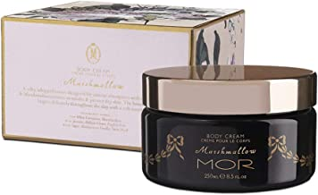 MOR Body Cream for Women with Avocado and Rosehip Oil for Dry Skin, Aloe Vera Shea Butter Lotion Daily Skin Moisturizer, Aromatherapy Skin Care Luxury Body Butter Marshmallow Aroma 250ml/8.5 fl oz