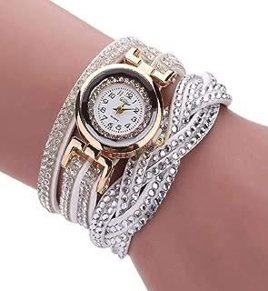 Clearance Sale!💗DEESEE(TM)💗 Brand Watches Women Luxury Crystal Women Gold Bracelet Quartz Wristwatch Rhinestone Clock Ladies Dress Gift Watches