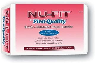 Nu Fit Adult Diapers, Medium 32 - 44 Latex Free, 96 Case