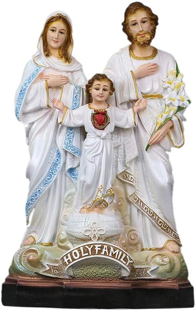 Statua della sacra famiglia vergine maria e gesù bambino