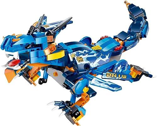 Nlatas Blocs de Construction de Jouets pour Enfants Montage de Bricolage Puzzle Dinosaure Bloc de Construction Télécomhommedé
