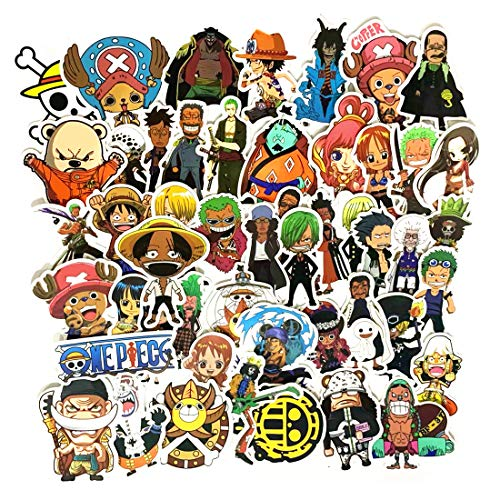 50PCS ONE Piece Stickers,Anime Stickers for Laptop, Notebooks, Car, Bicycle, Skateboards, Luggage Decoration (50PCS ONE Piece Stickers)