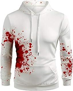 Men Women Halloween Printed Hoodies Sweatshirt Coat, Couple Solid Long Sleeve T-shirt Blouse Tunic Tops Sport Coat