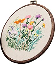 Flower Pattern Cross Stitch Stamped Embroidery Kit for Starters Cross Stitch Kit DIY Sewing Art & Craft for Beginners Needlework Adults Craft Sewing Kit(Type 4)