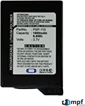 Replacement 1800mAh PSP-110 PSP110 Battery for Sony PSP Fat Portable Playstation PSP-1000, PSP-1001