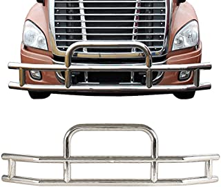 ISUNLIT Freightliner Cascadia 2008-2017 Grille Guard Deer Guard Bumper Guard with Brackets Set
