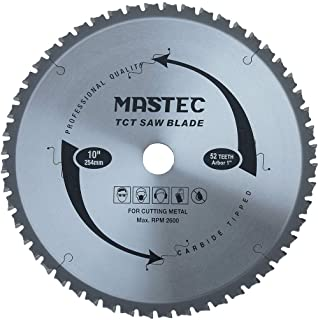 MASTEC 10-Inch 52 Tooth for Steel and Ferrous Metals Cutting Circular Saw Blade with 1-Inch Arbor(5/8-Inch Bushing)