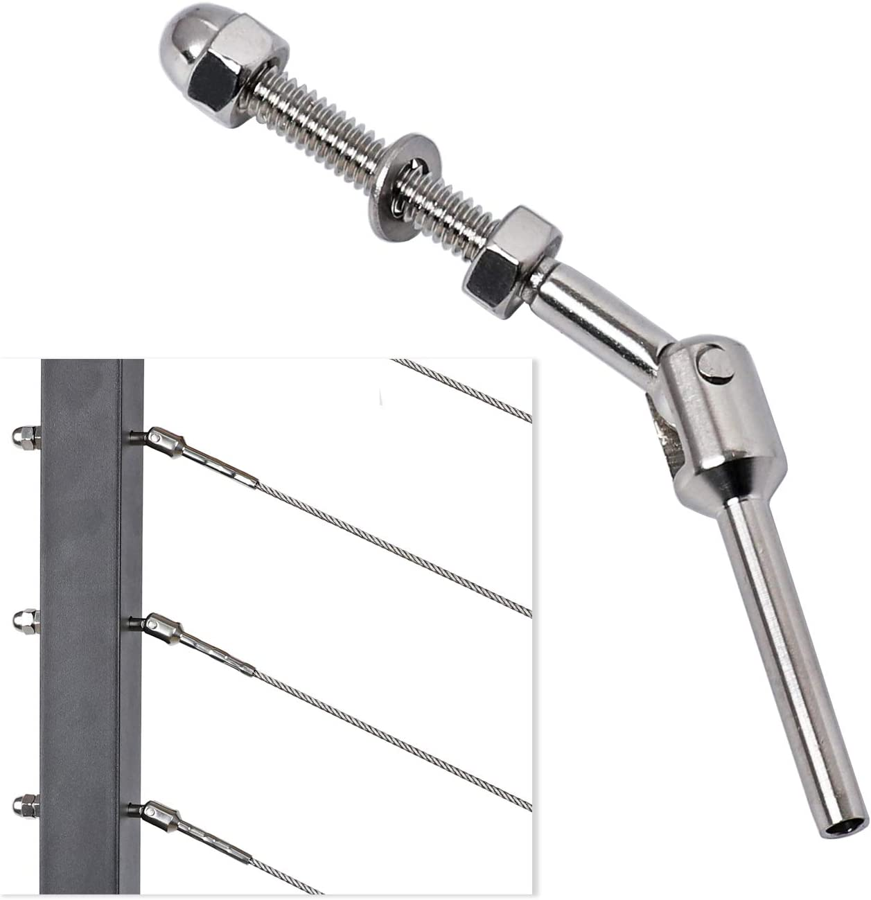 Deck Man 1 8 Inch T316 New Free Quality inspection Shipping Railing Cable Adjustable Stainless Steel