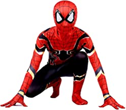 Disfraz Spiderman Niño, Homecoming Disfraz Spider-man Halloween, Carnaval Superheroe Spiderman Disfraz Niño Cosplay Suit Spiderman Traje 3D Print, Disfraz De Spiderman Niño,H-XS(102~112)