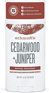 Schmidts Deodorant, Deodorant Stick Cedarwood Juniper, 3.25 Ounce