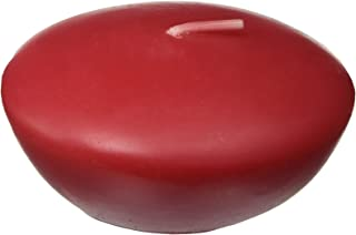 Zest Candle 12-Piece Floating Candles, 3-Inch, Red